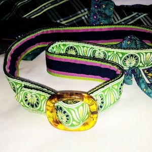VINTAGE 80s Reversible Ribbon Belt